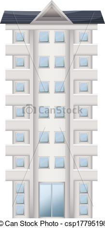 EPS Vectors of A tall condominium.