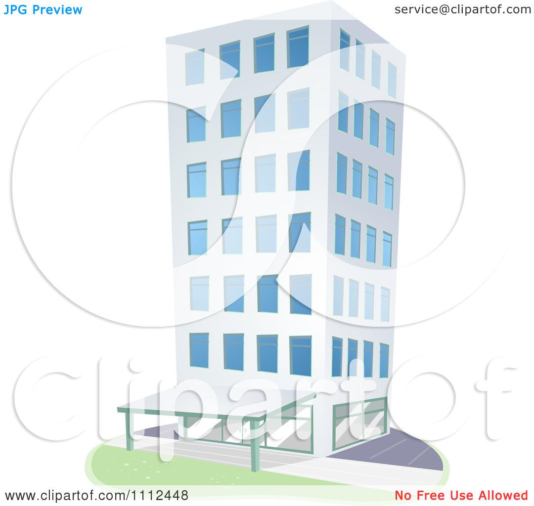 Clipart City Highrise Condominium Building.