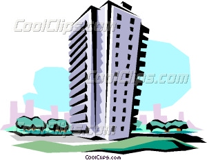 Apartment building Vector Clip art.