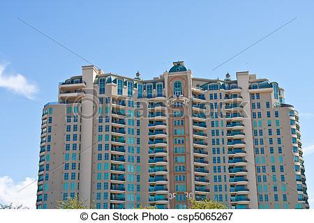 Picture of Huge Modern Condominium Building.