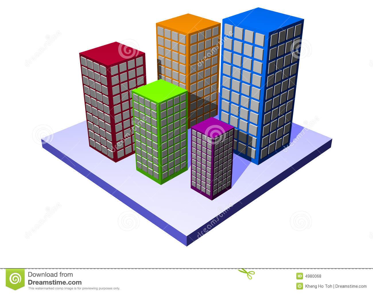 Condominiums Stock Illustrations.