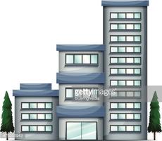 Tall Condo Building stock vectors.