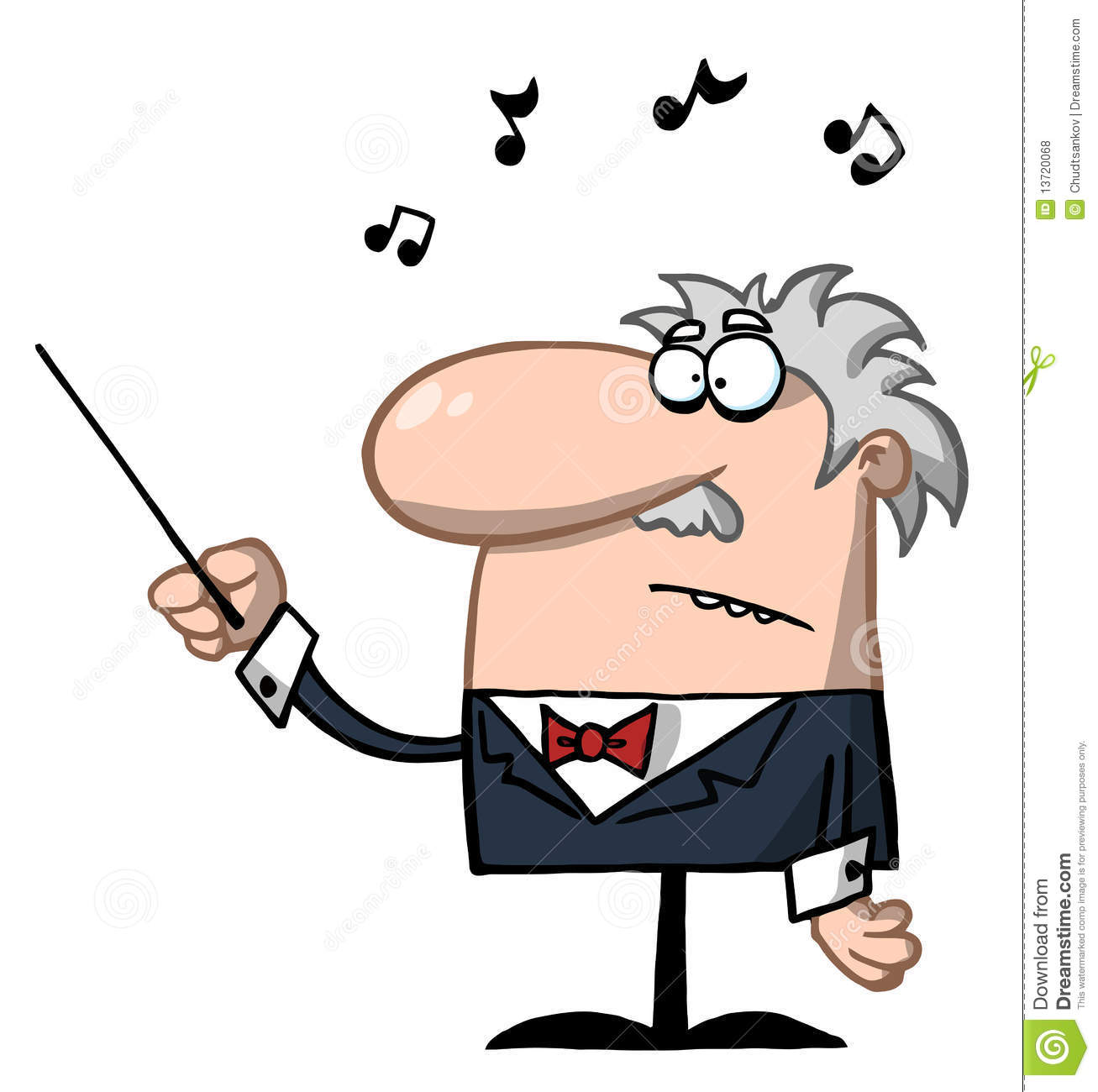 Orchestra Conductor Holds Baton Royalty Free Stock Photos.