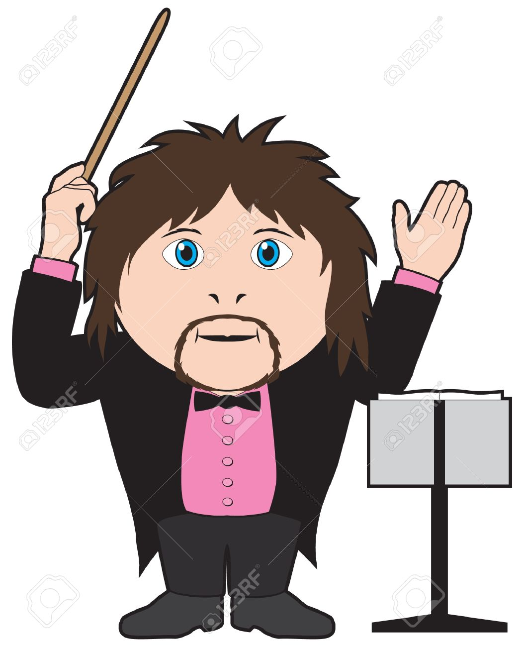 Orchestra Conductor With Baton Royalty Free Cliparts, Vectors, And.