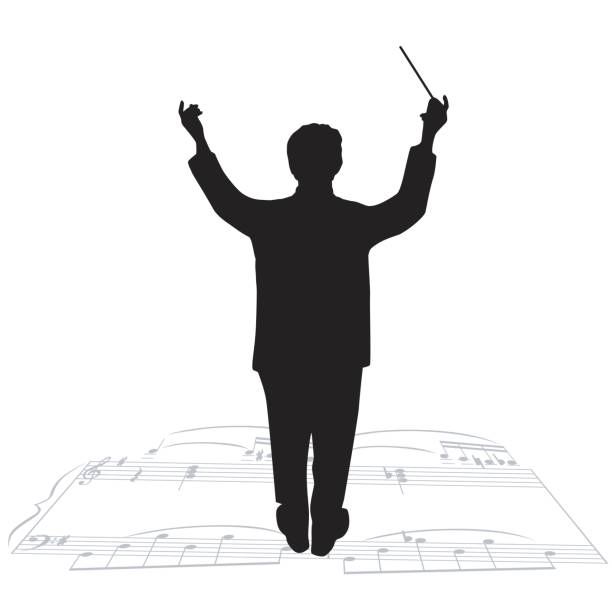 Best Orchestra Conductor Illustrations, Royalty.