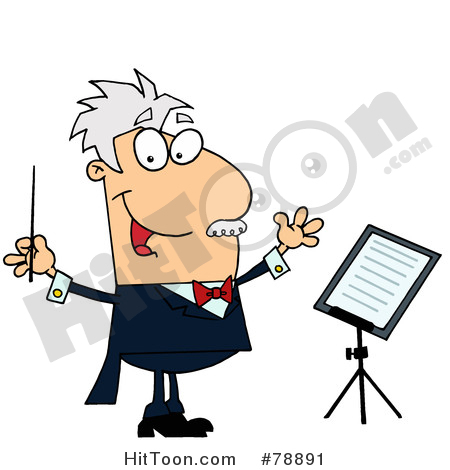 Conductor Clipart #78891: Caucasian Cartoon Music Conductor Man by.