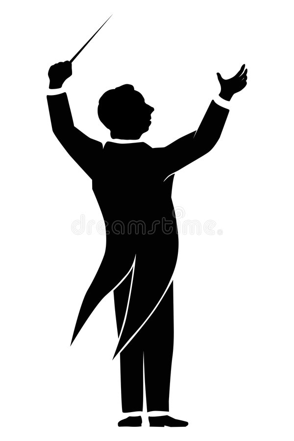 Orchestra Conductor Stock Illustrations.