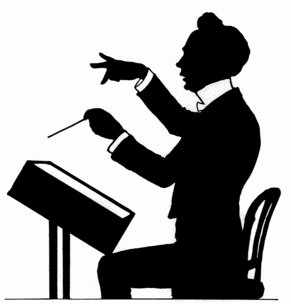 Music conductor clipart.