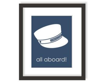Train Conductor Hat Art Print.