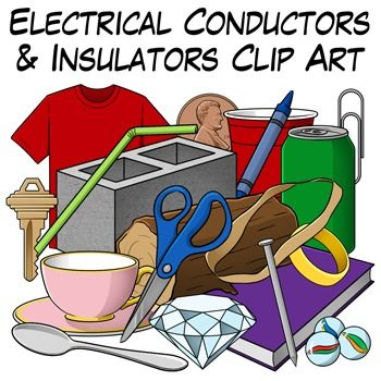 Electrical Conductors and Insulators Clip Art.