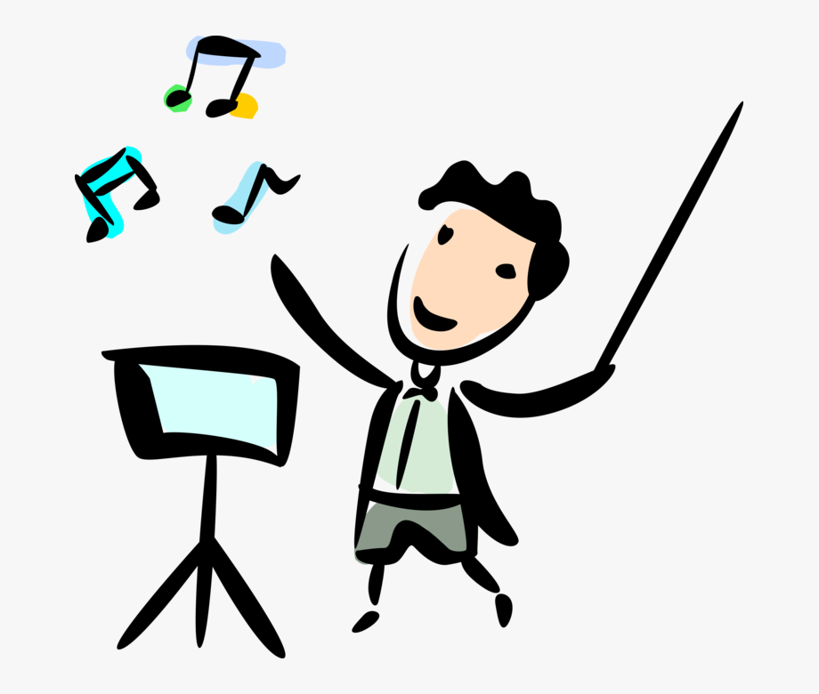Maestro Conductor With Baton Image Illustration Of.