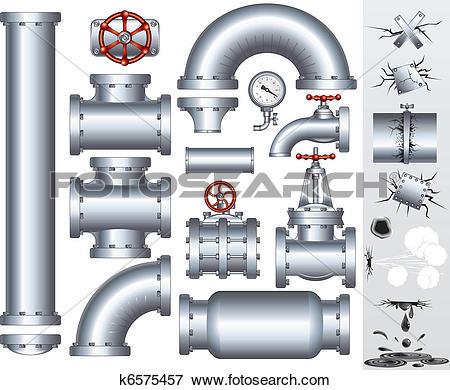 Clip Art of Industrial Conduit k6575457.