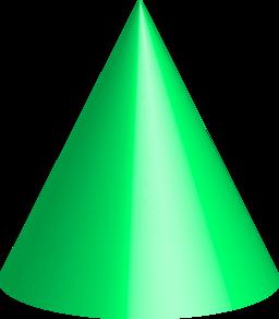 Green cone clipart.