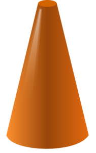 Cone clipart #7