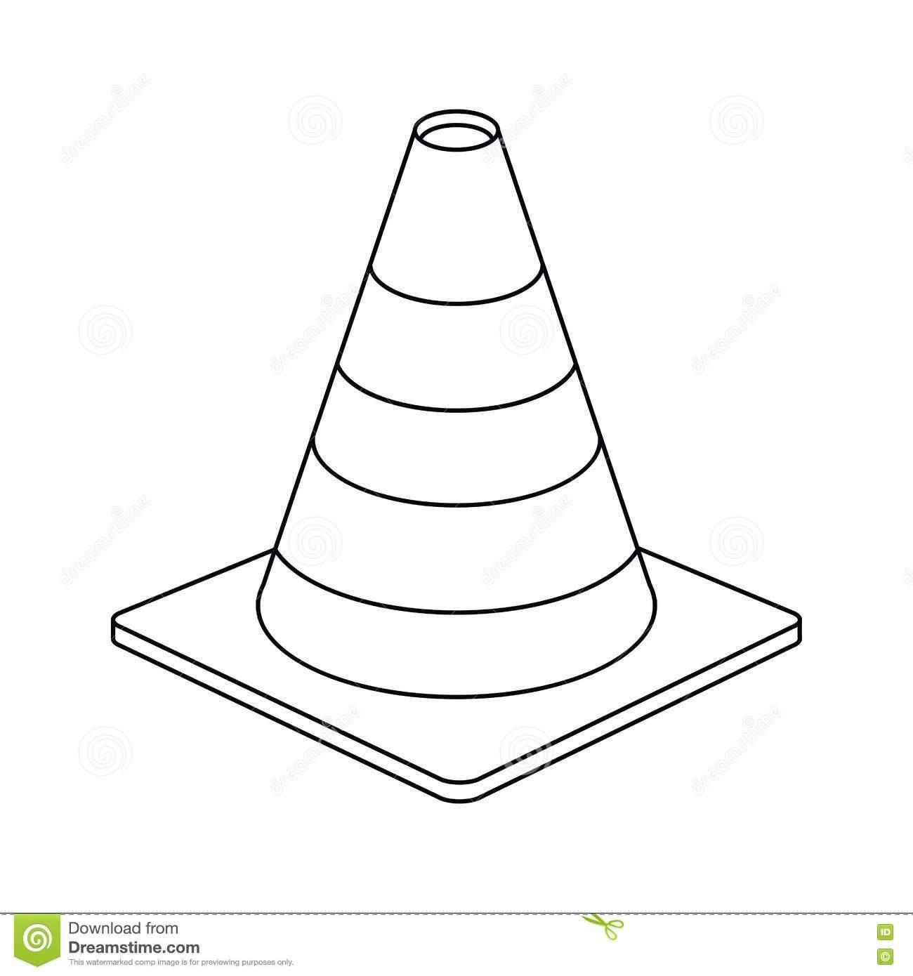 Traffic cone clipart black and white » Clipart Portal.