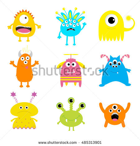 Monster Cartoon Stock Images, Royalty.