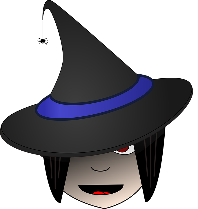 Free vector graphic: Witch, Head, Halloween, Female.