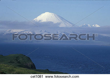 Stock Photography of USA, Alaska, Aleutian Islands, Umnak Island.