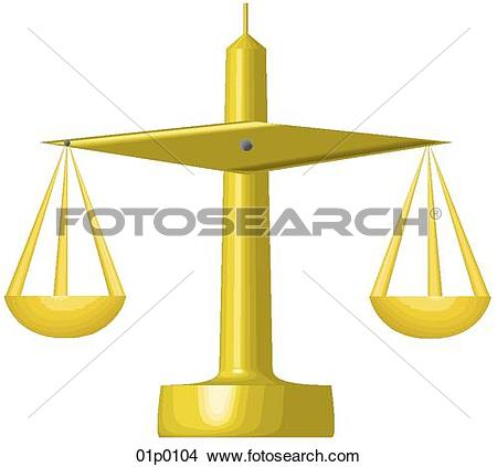 Clipart of commerce scales 01p0104.