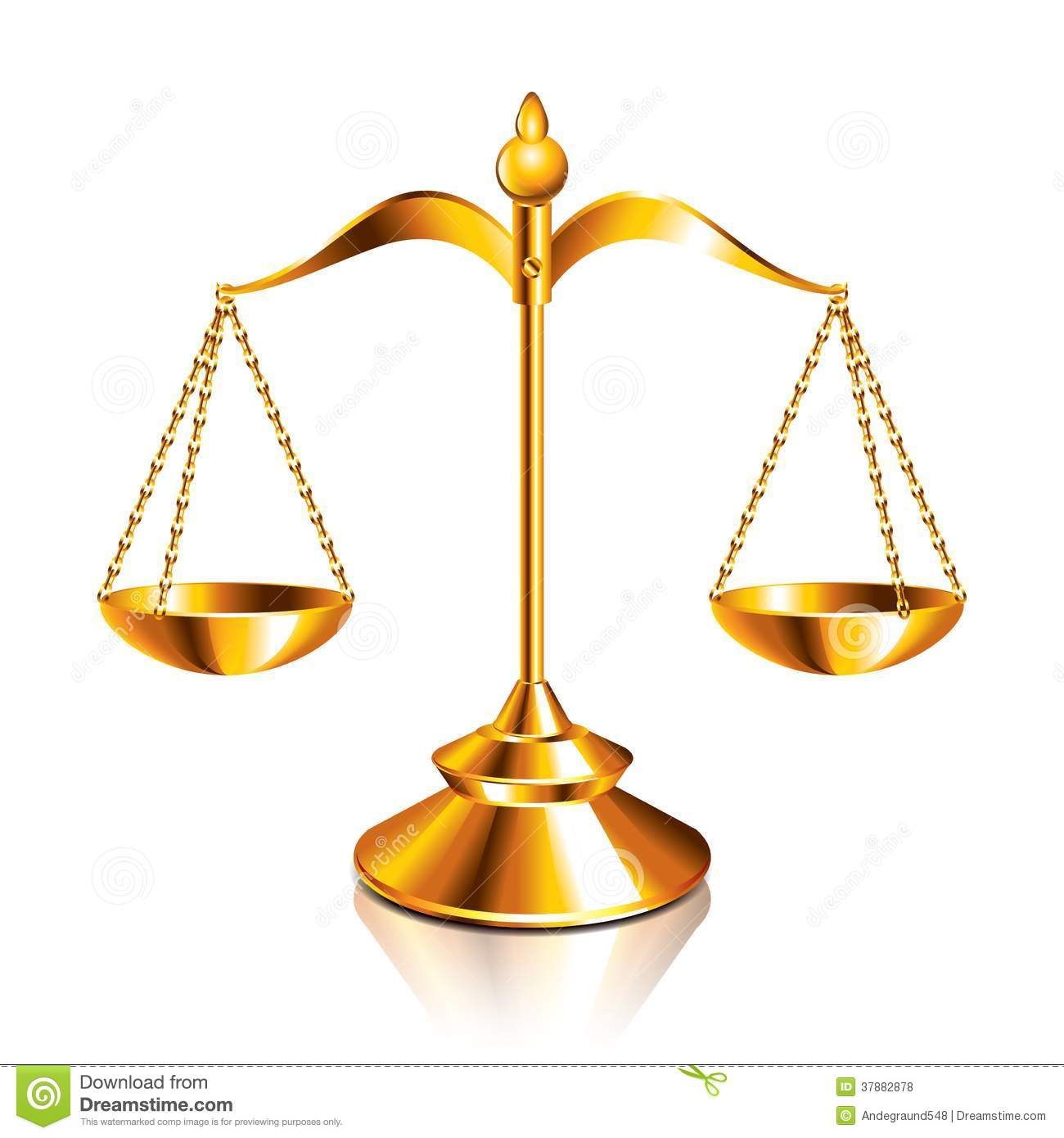 Scales Of Justice Vector Illustration Royalty Free Stock Photos.