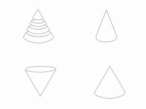 Cone Outline Clip Art.