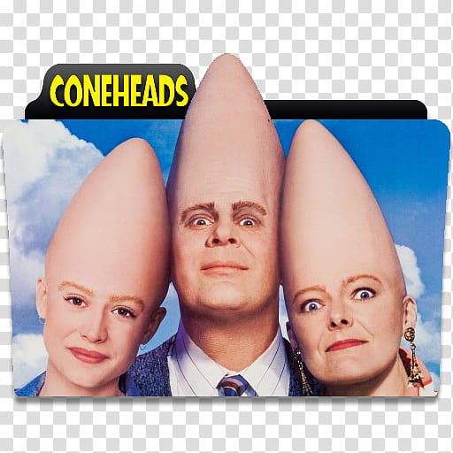 Epic Movie Folder Icon Vol , Coneheads transparent.