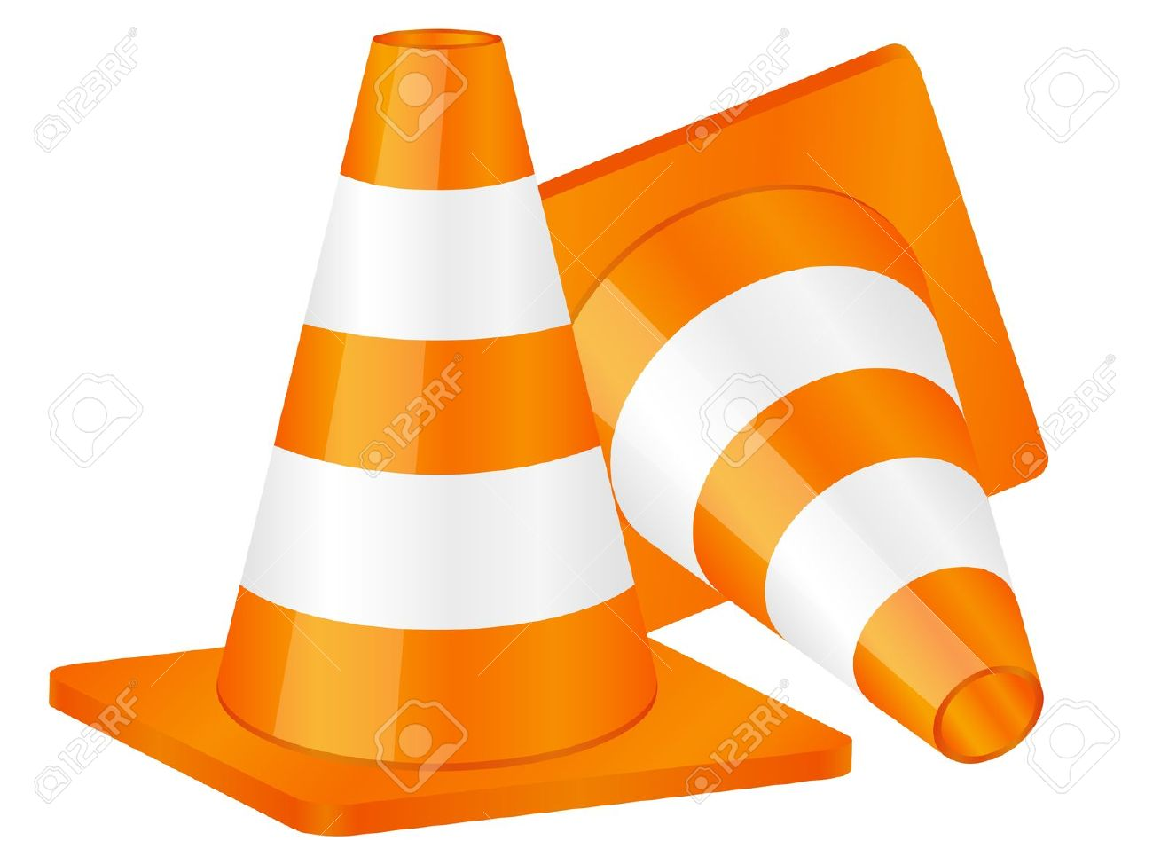 Construction cone clip art.