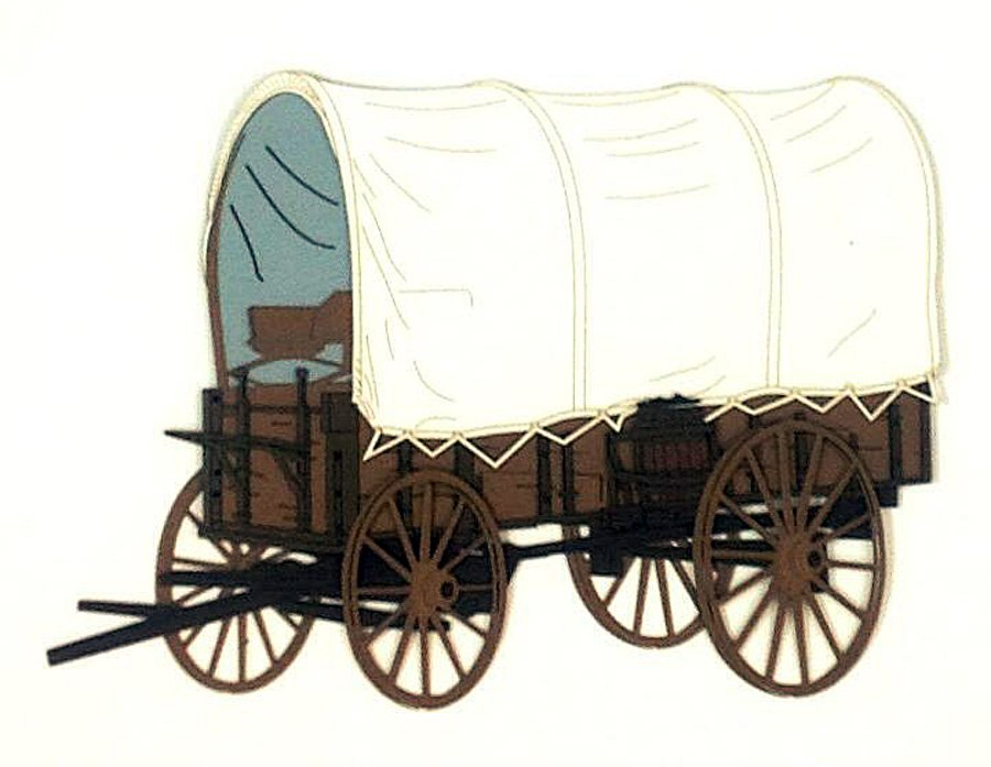 Covered Wagon Clipart Border.