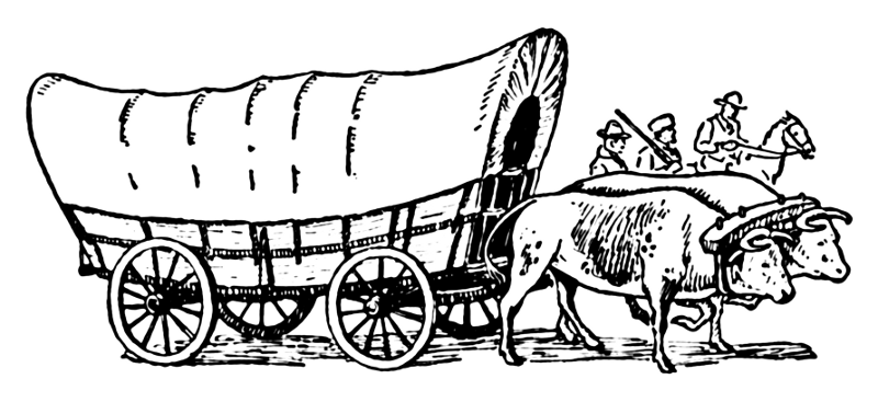 Covered Wagon Cliparts.