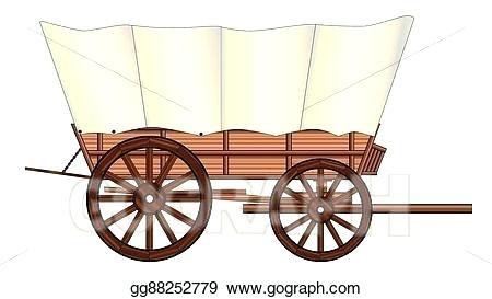 conestoga wagon clipart.