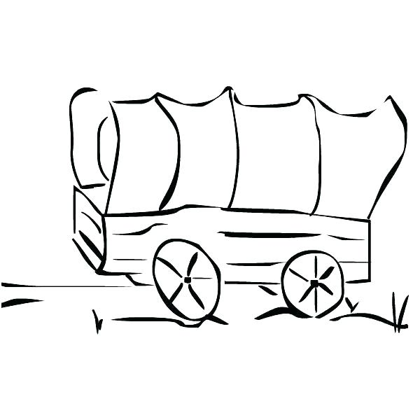 Conestoga Wagon Drawing.