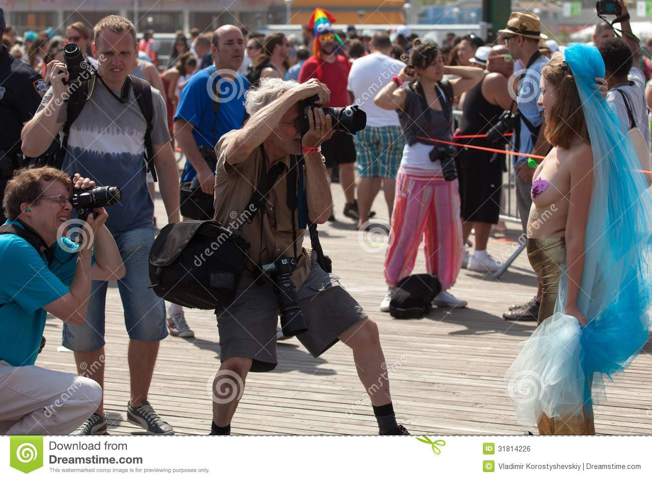 Coney Island Mermaid Parade Editorial Photo.