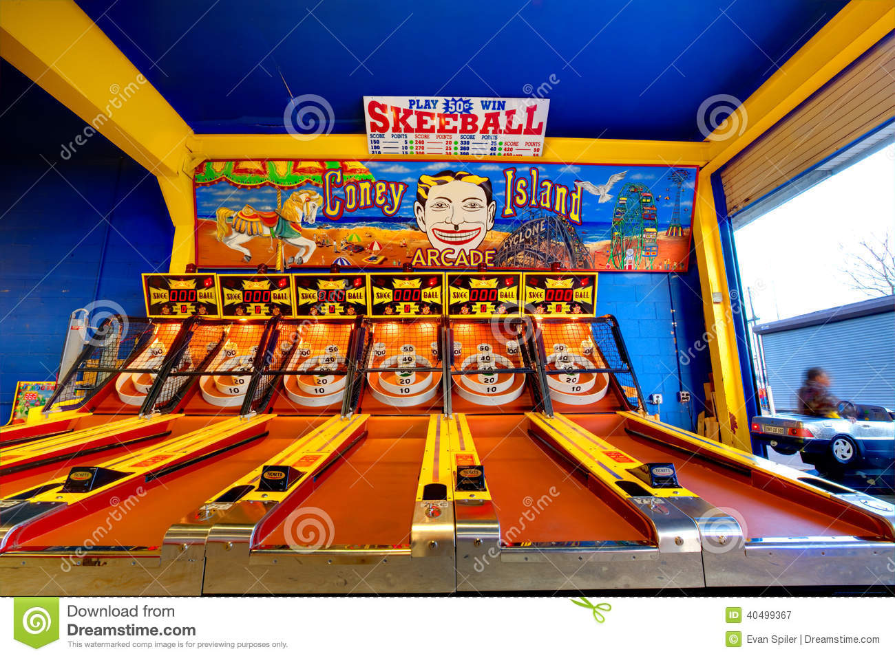 Skeeball At Coney Island Editorial Photography.
