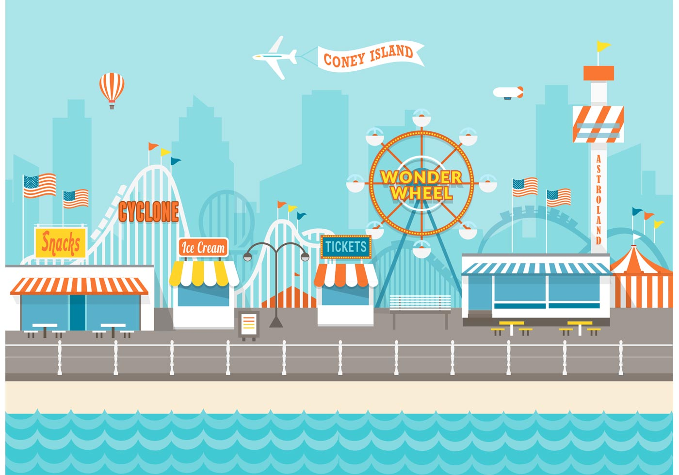 County Fair Free Vector.