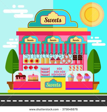 Candy Shop Stock Photos, Royalty.