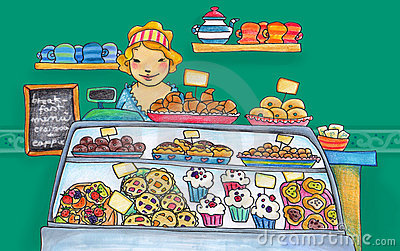 Confectioner Woman Stock Illustrations.