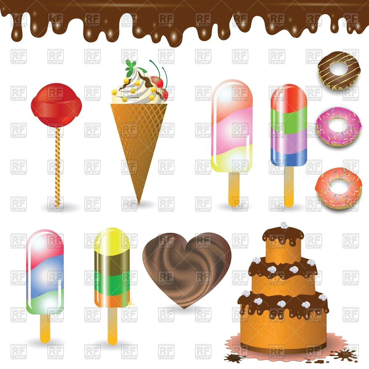 Cafe and confectionery icon set.