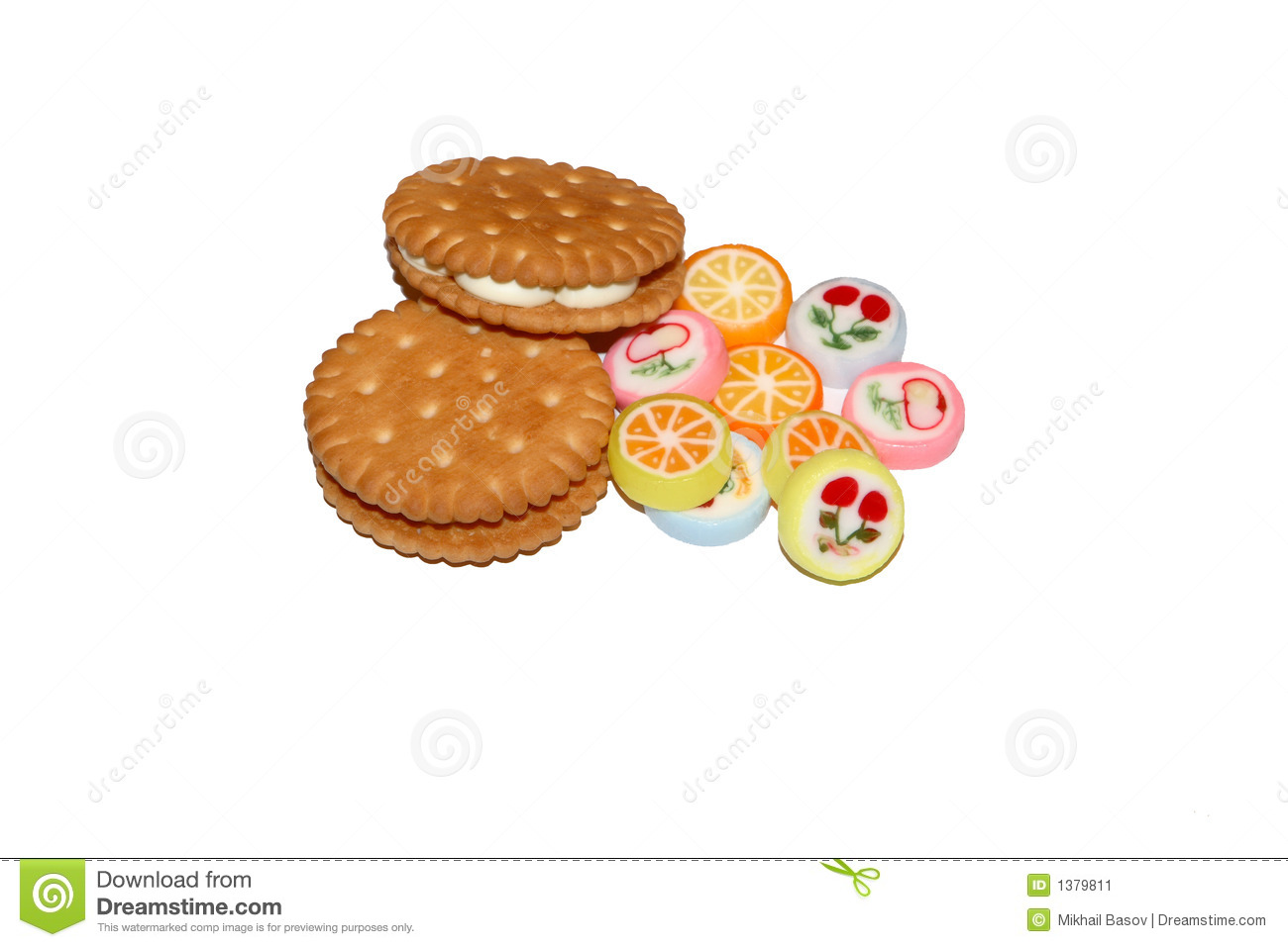 Sweets, Confectionery Products, Cookies Stock Image.