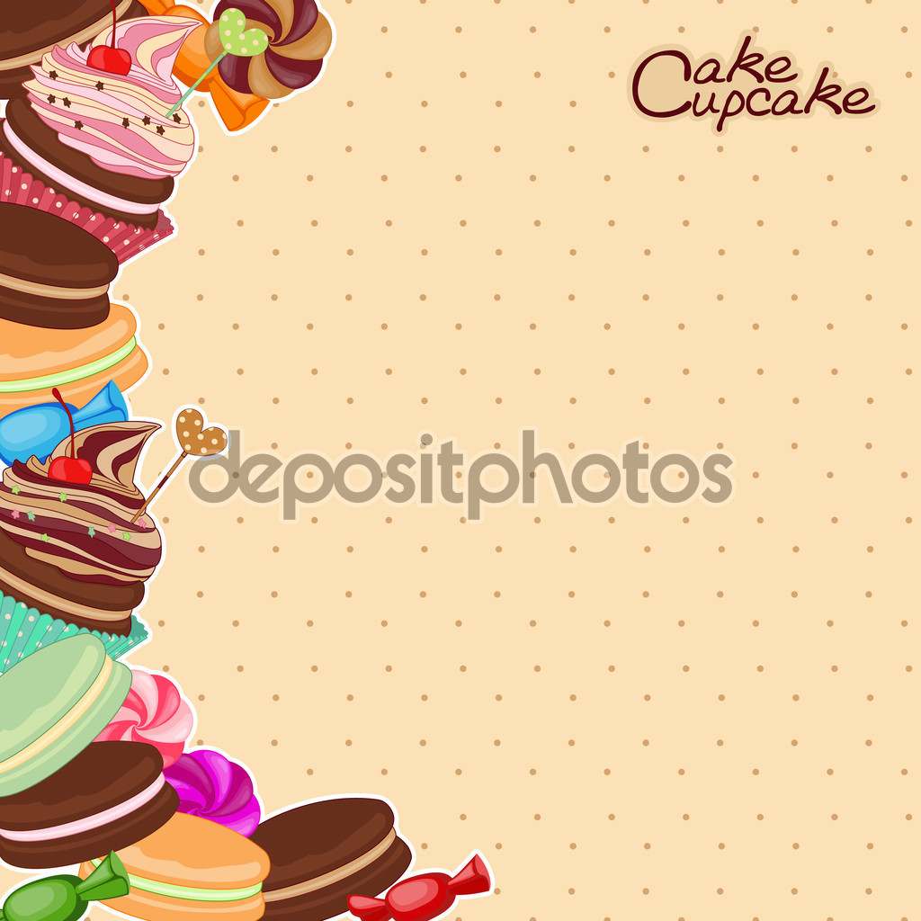 Vector illustration of confectionery products in the form — Stock.