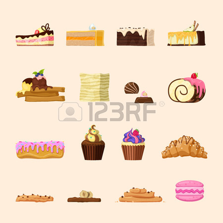 Yummy Candy Shop Confectionery Bakery Product Front View Icon.