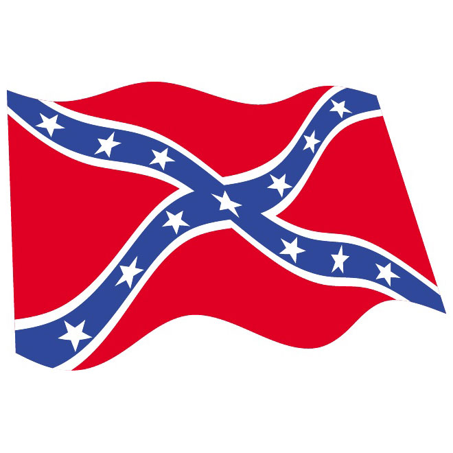 Rebel flag clipart.