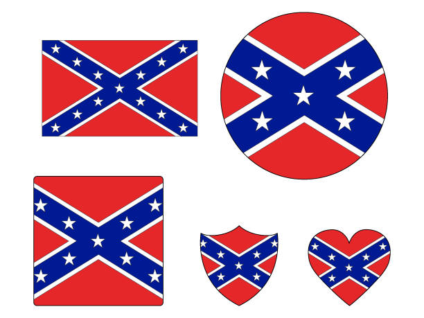Best Confederate Flag Illustrations, Royalty.