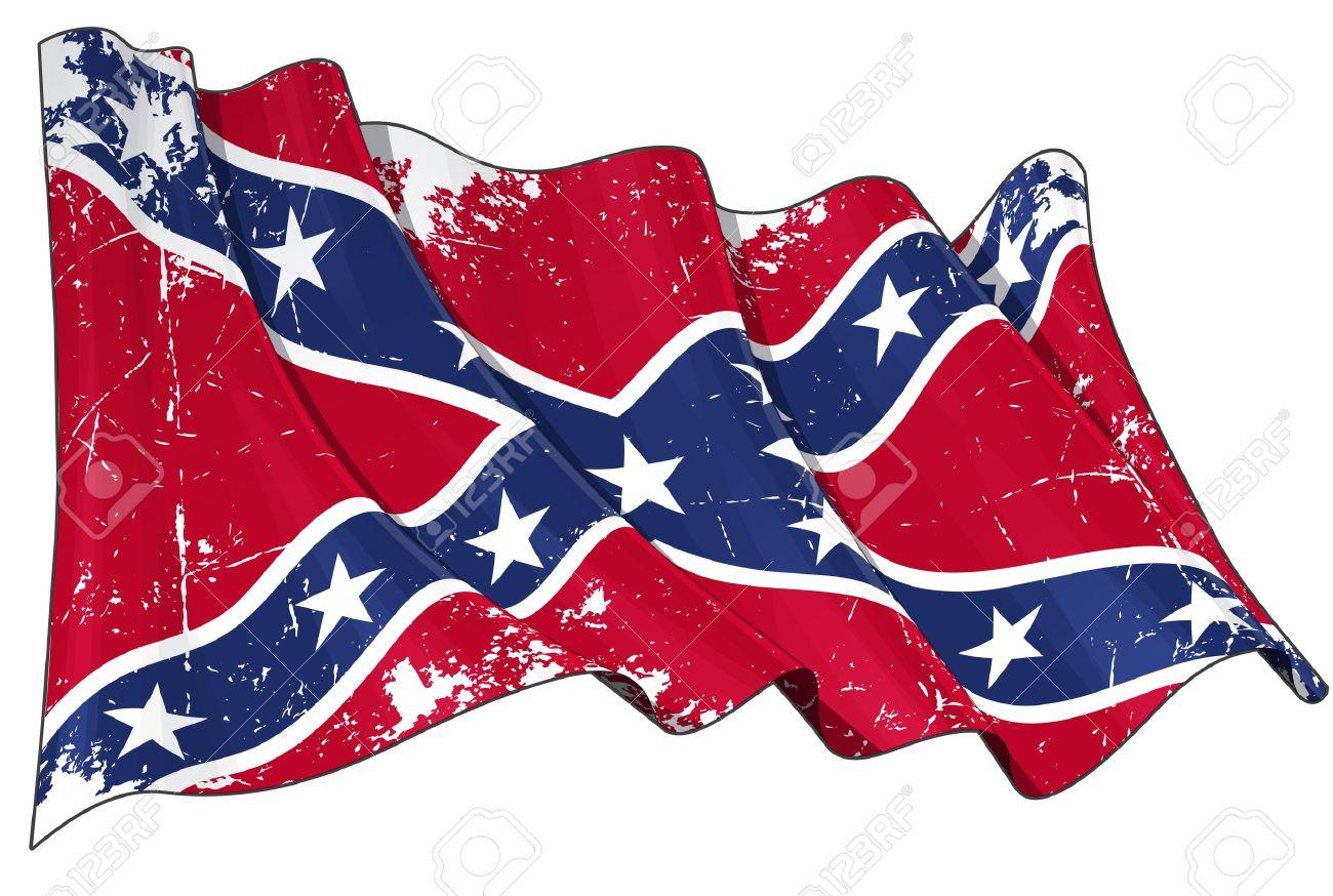 Confederate Rebel flag Scratched.