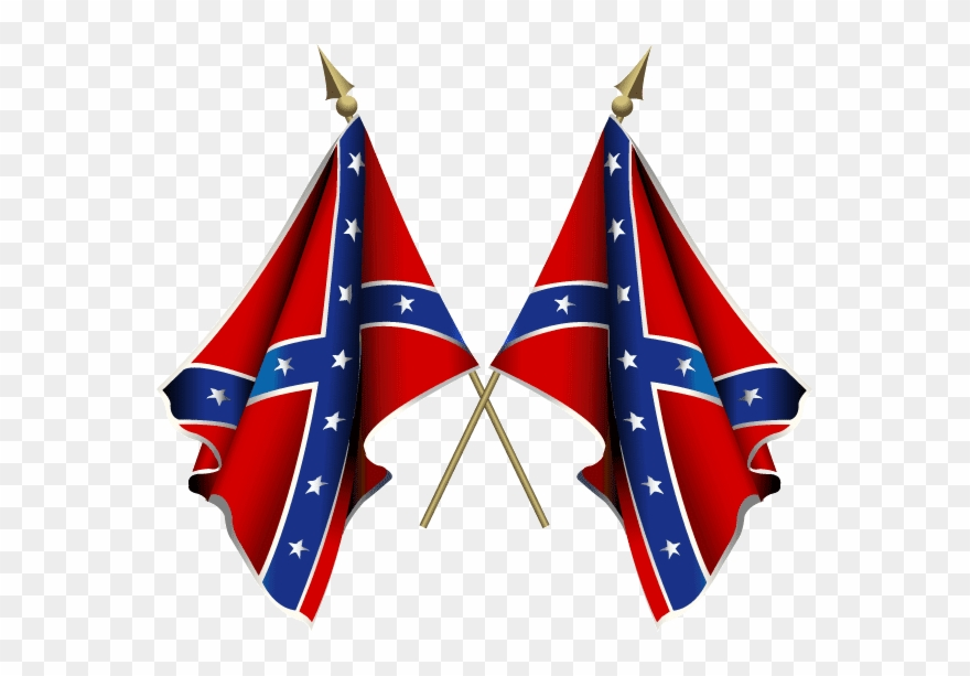 Confederate Battle Flags.
