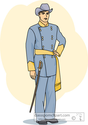 Confederate Soldier Clipart.