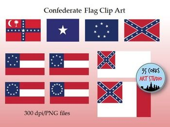 10 flags used by the Confederate States during the American Civil.