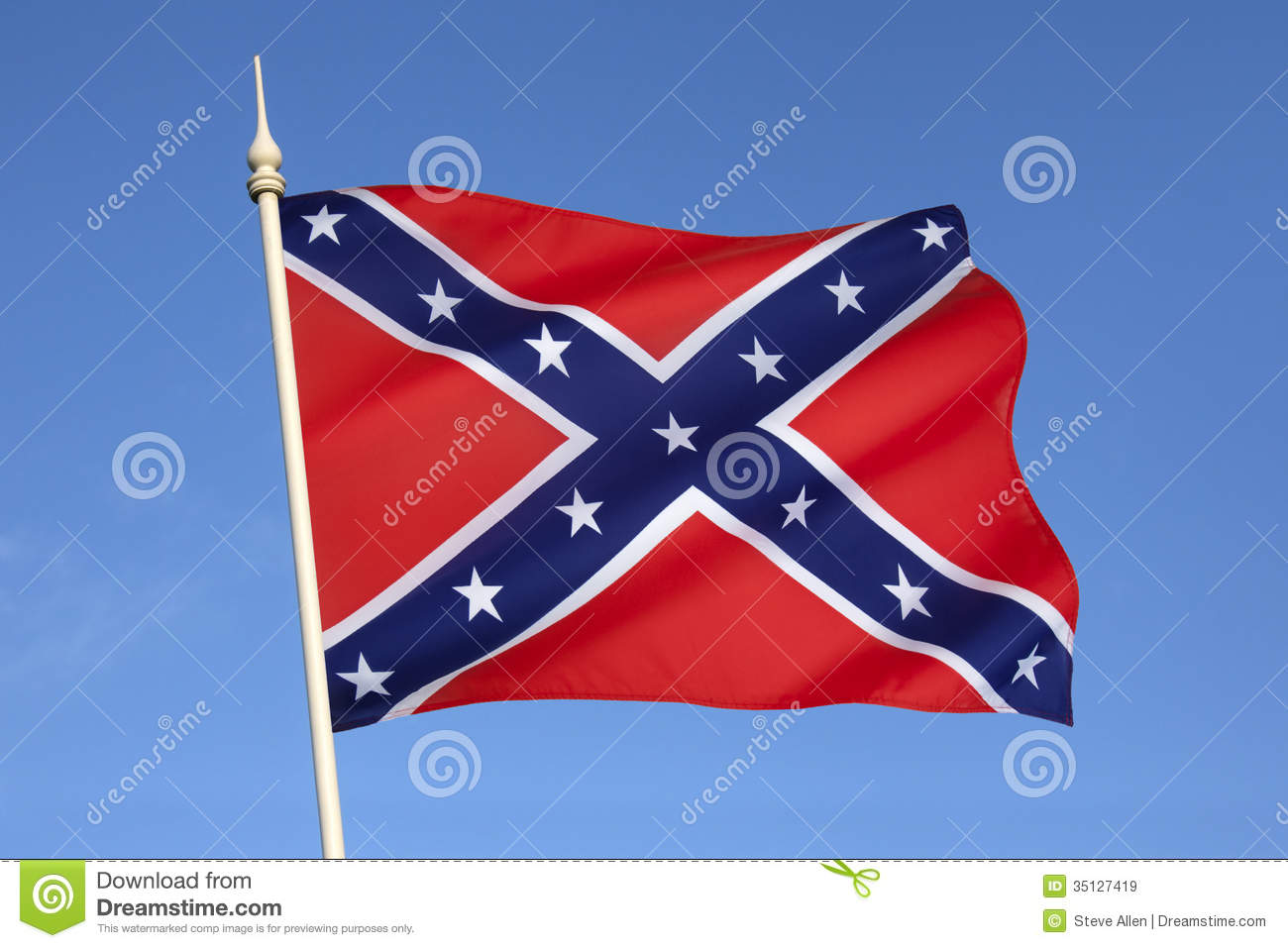 Flag Of The Confederate States Of America Royalty Free Stock.