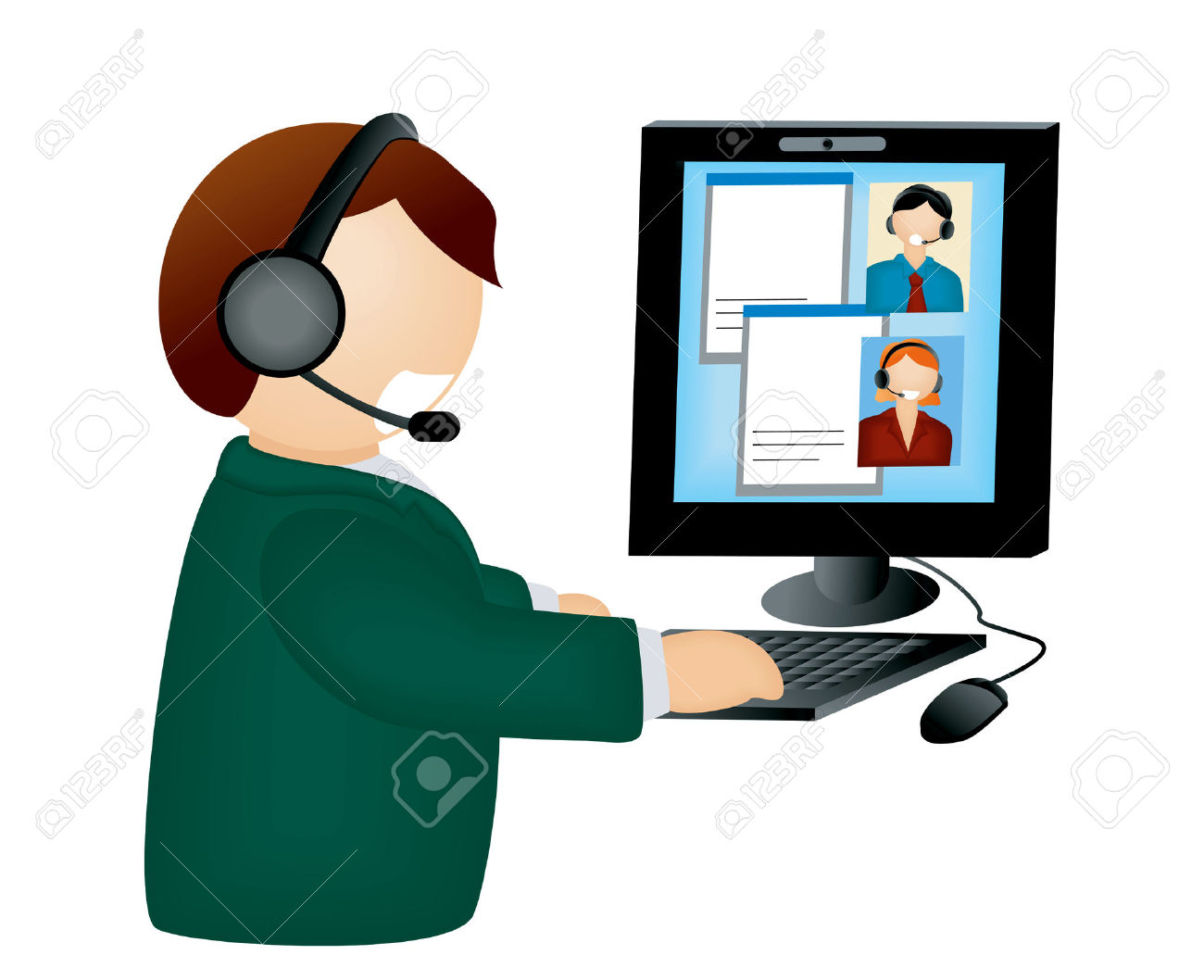 Conference call clipart » Clipart Station.