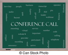 Conference call word cloud concept Stock Illustration Images.