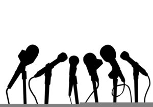 Microphone Press Conference Clipart.
